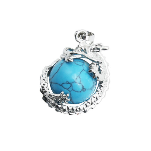 pendentif howlite bleue dragon