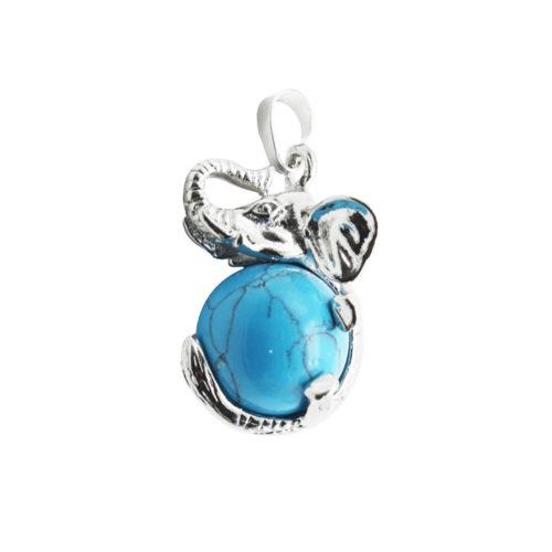 pendentif howlite bleue elephant