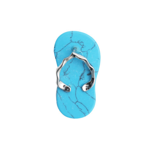 pendentif howlite bleue plage
