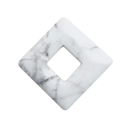 pendentif pi chinois ou donut howlite carré