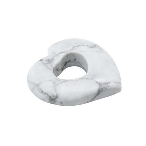 pendentif pi chinois ou donut howlite coeur