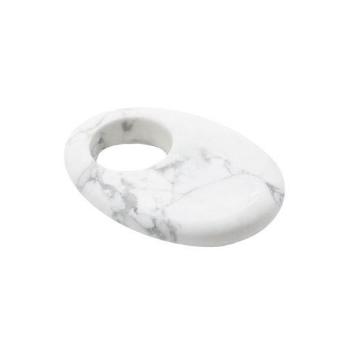 pendentif pi chinois ou donut howlite oval