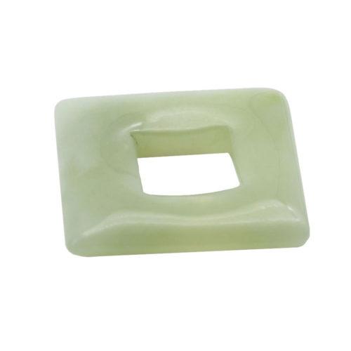 pendentif pi chinois ou donut jade carré