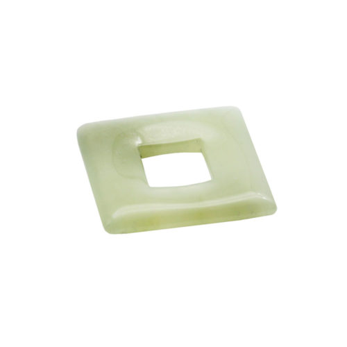 pendentif pi chinois ou donut jade petit carré