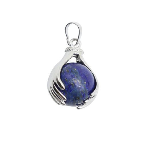 pendentif lapis-lazuli deux mains