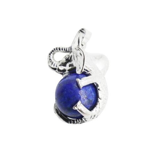 pendentif lapis lazuli elephant