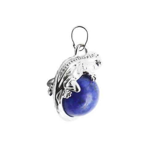 pendentif lapis lazuli lézard