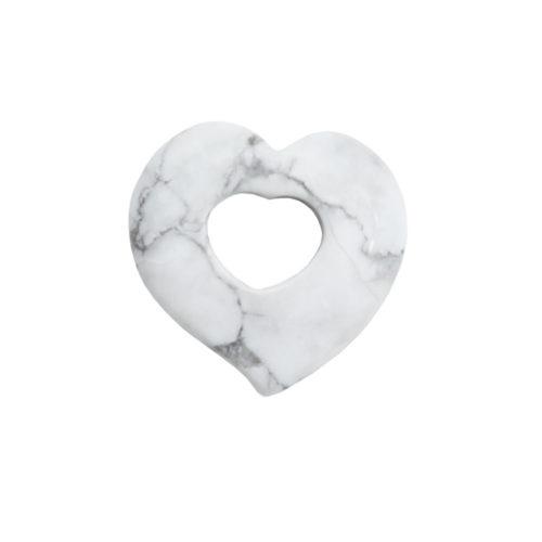 pendentif pi chinois ou donut magnésite coeur