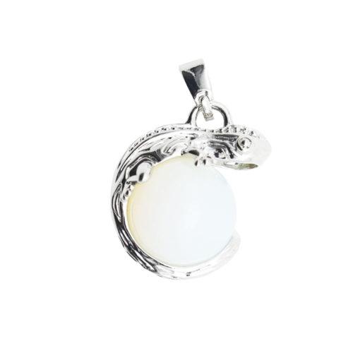 pendentif opale synthetique lezard