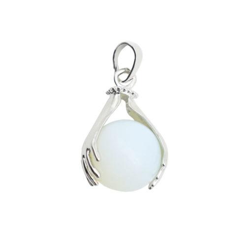 pendentif opale synthétique deux mains