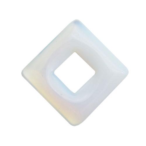 pendentif pi chinois ou donut opale synthétique carré