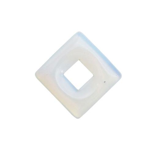 pendentif pi chinois ou donut opale synthétique petit carré