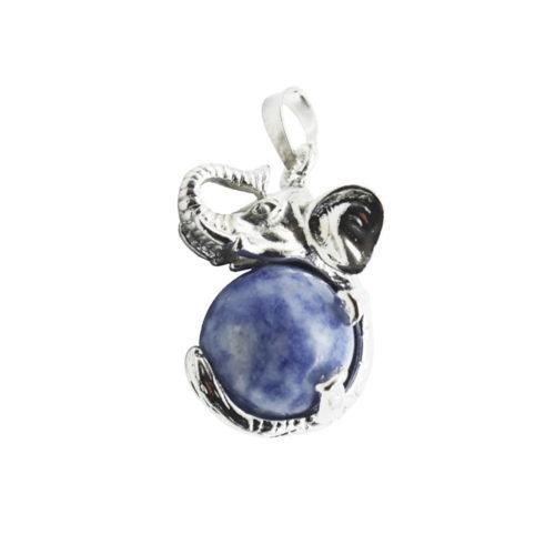 pendentif quartz bleu elephant
