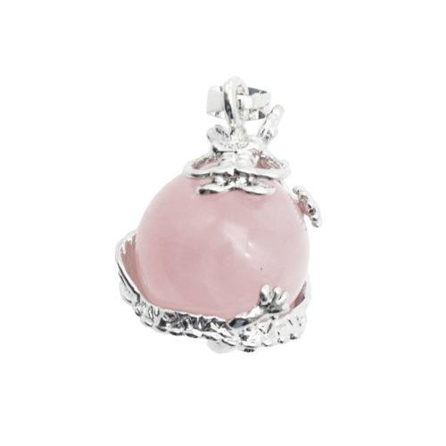 pendentif quartz rose dragon