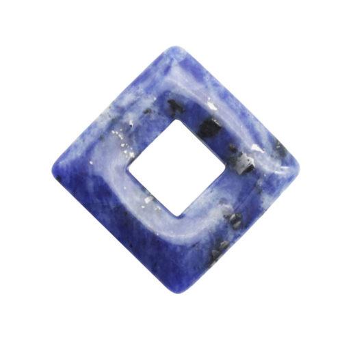 pendentif pi chinois ou donut sodalite carré
