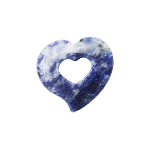 pendentif pi chinois ou donut sodalite coeur
