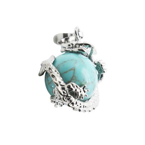 pendentif turquoise stabilisée dragon