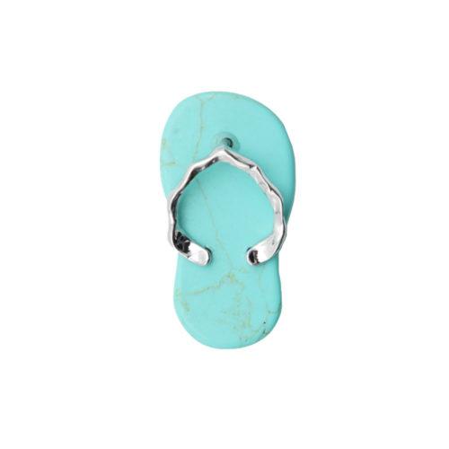 pendentif turquoise stabilisée plage