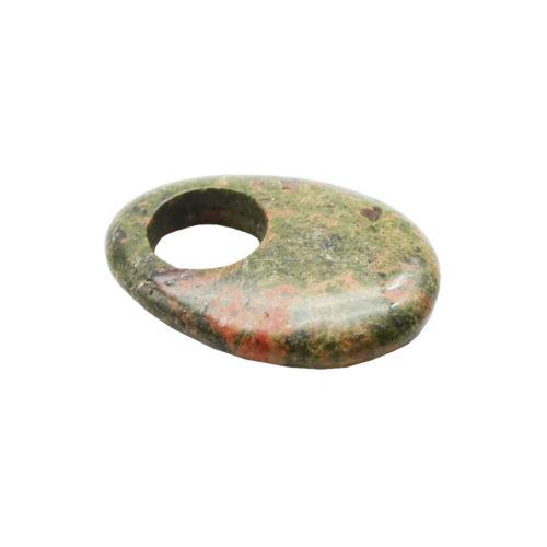pendentif pi chinois ou donut unakite oval