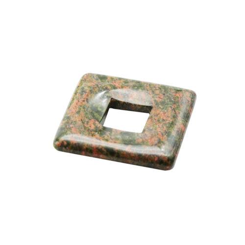 pendentif pi chinois ou donut unakite petit carré