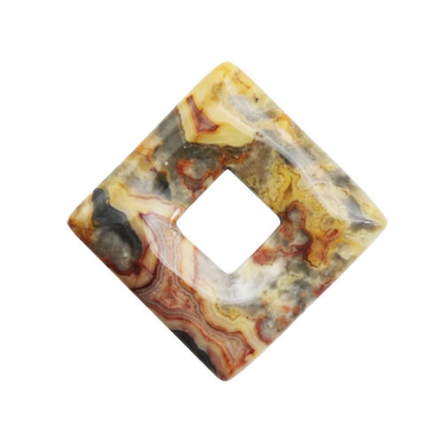 pi chinois ou donut agate crazy lace carré