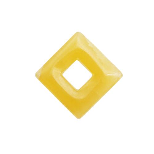 pi chinois ou donut calcite orange petit carré