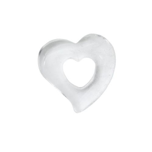 pi chinois ou donut cristal de roche coeur