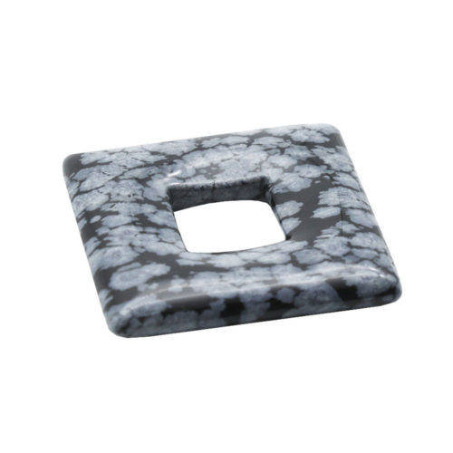 pi chinois ou donut obsidienne neige carré
