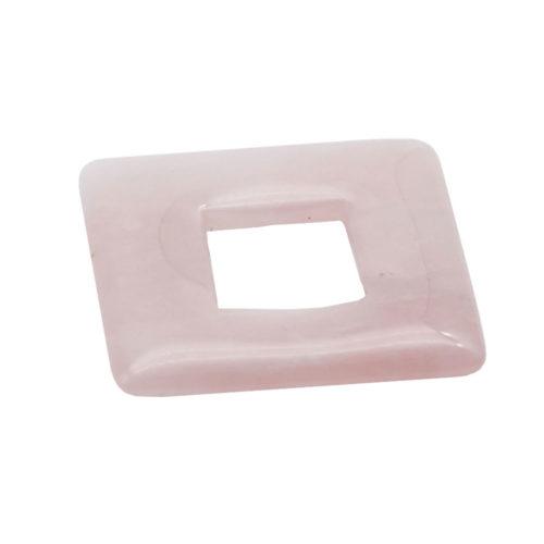 pi chinois ou donut quartz rose carré