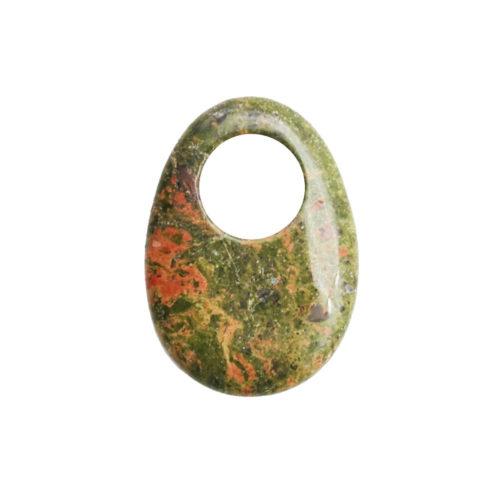 pi chinois ou donut unakite oval