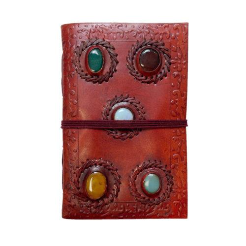 journal-intime-ou-cahier-en-cuir-5-pierres-12-x-17cm-01