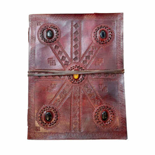 journal-intime-ou-cahier-en-cuir-5-pierres-17-x-25cm-01