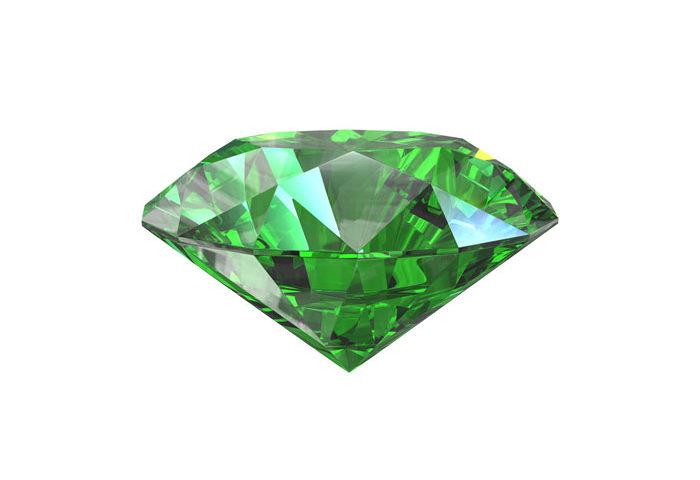 pierre diamant vert