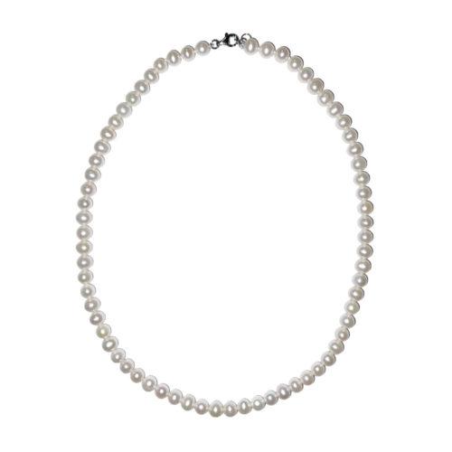 collier perles eau douce perles boules 6mm
